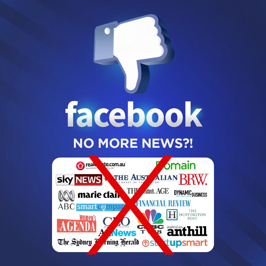 Facebook Bans News Sites