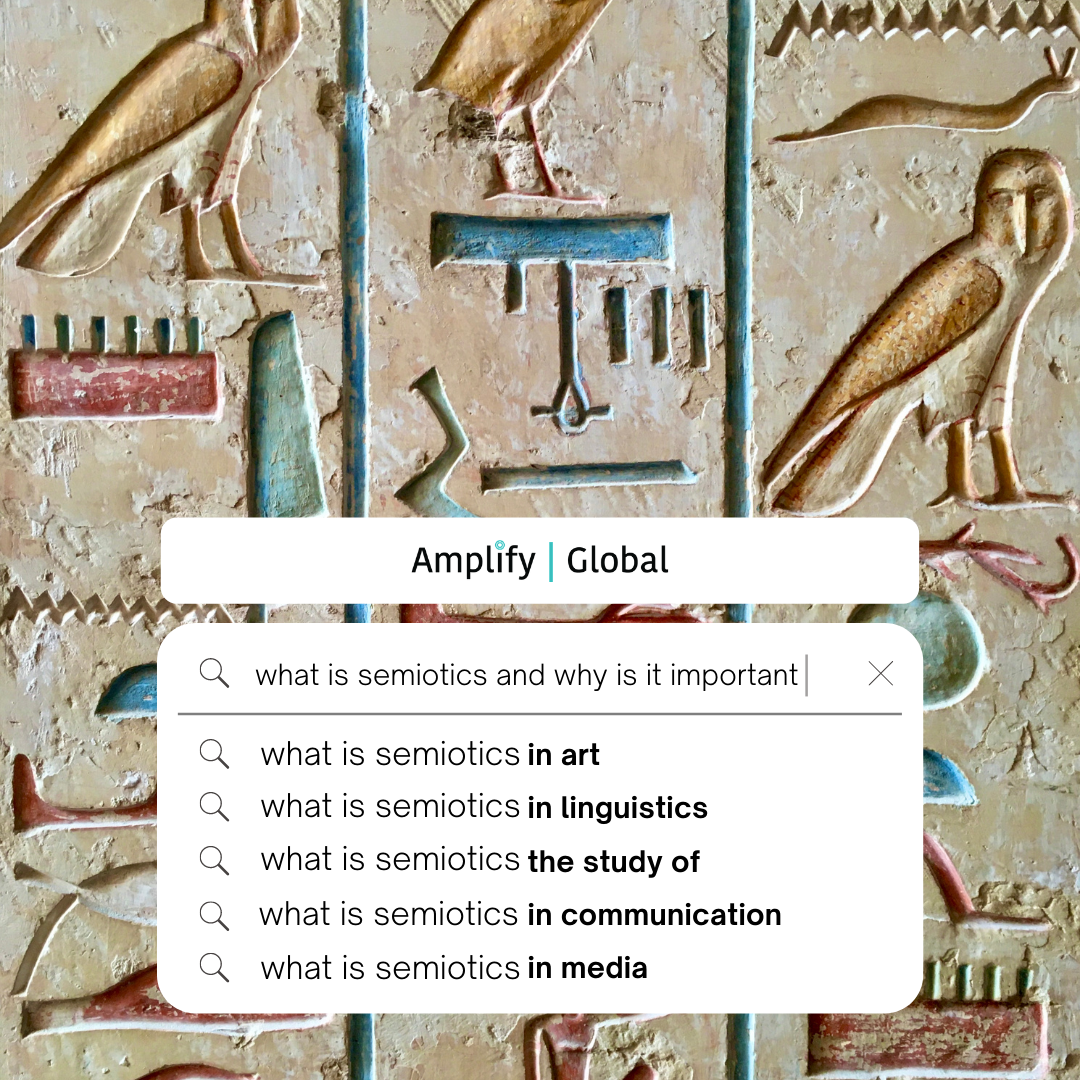 Semiotics the study of symbols hieroglyphics