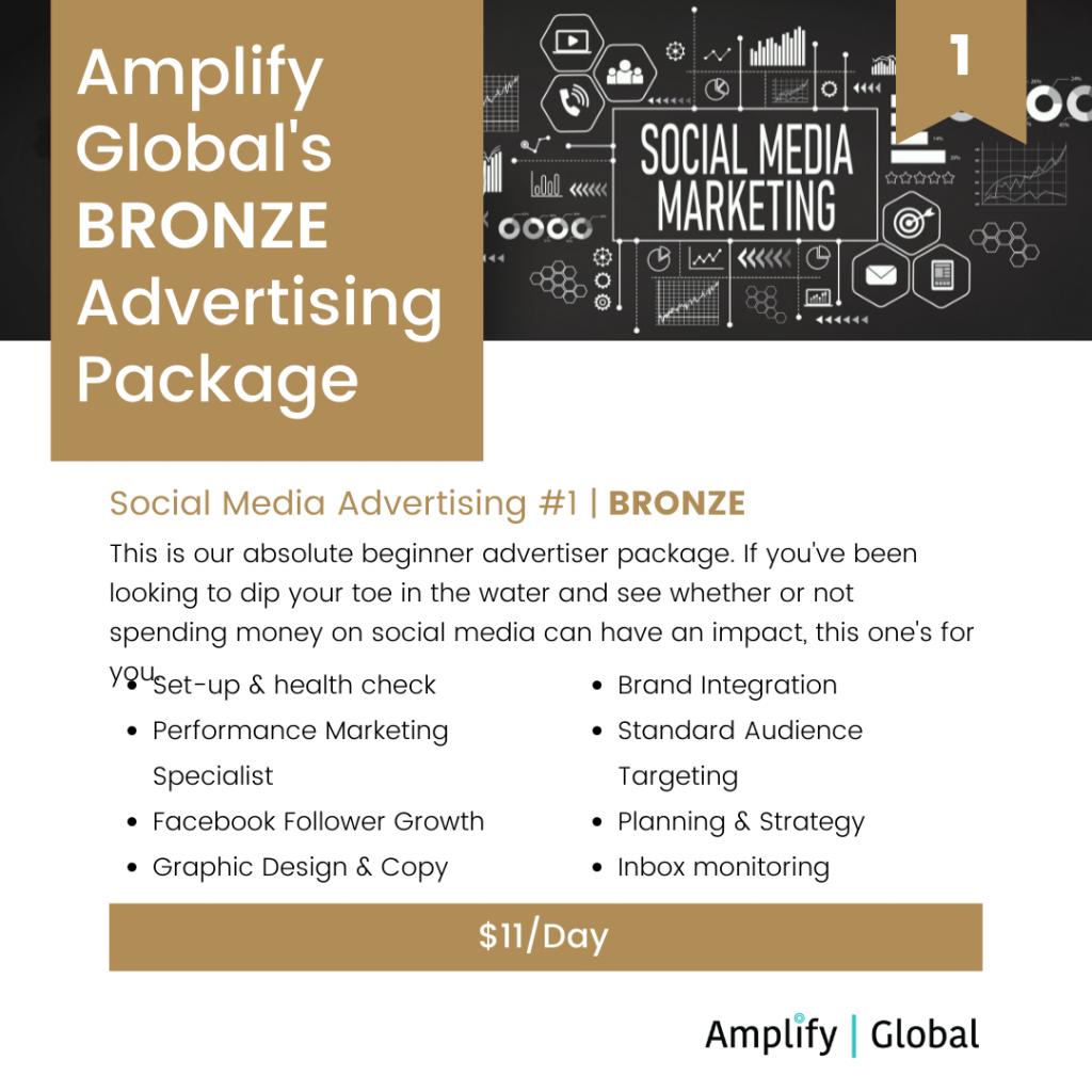 Amplify Global Social Media Advertising Package - Bronze