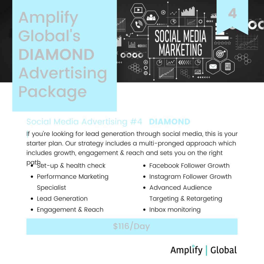 Amplify Global Social Media Advertising Package - Diamond