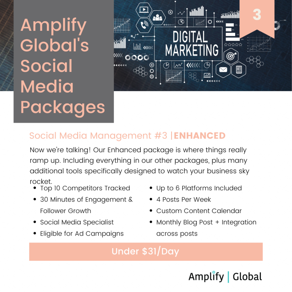 Amplify Global Social Media Content Management Package - Enhanced
