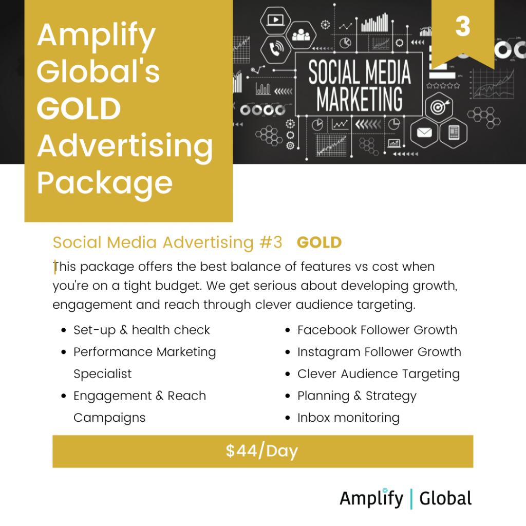 Amplify Global Social Media Advertising Package - Gold