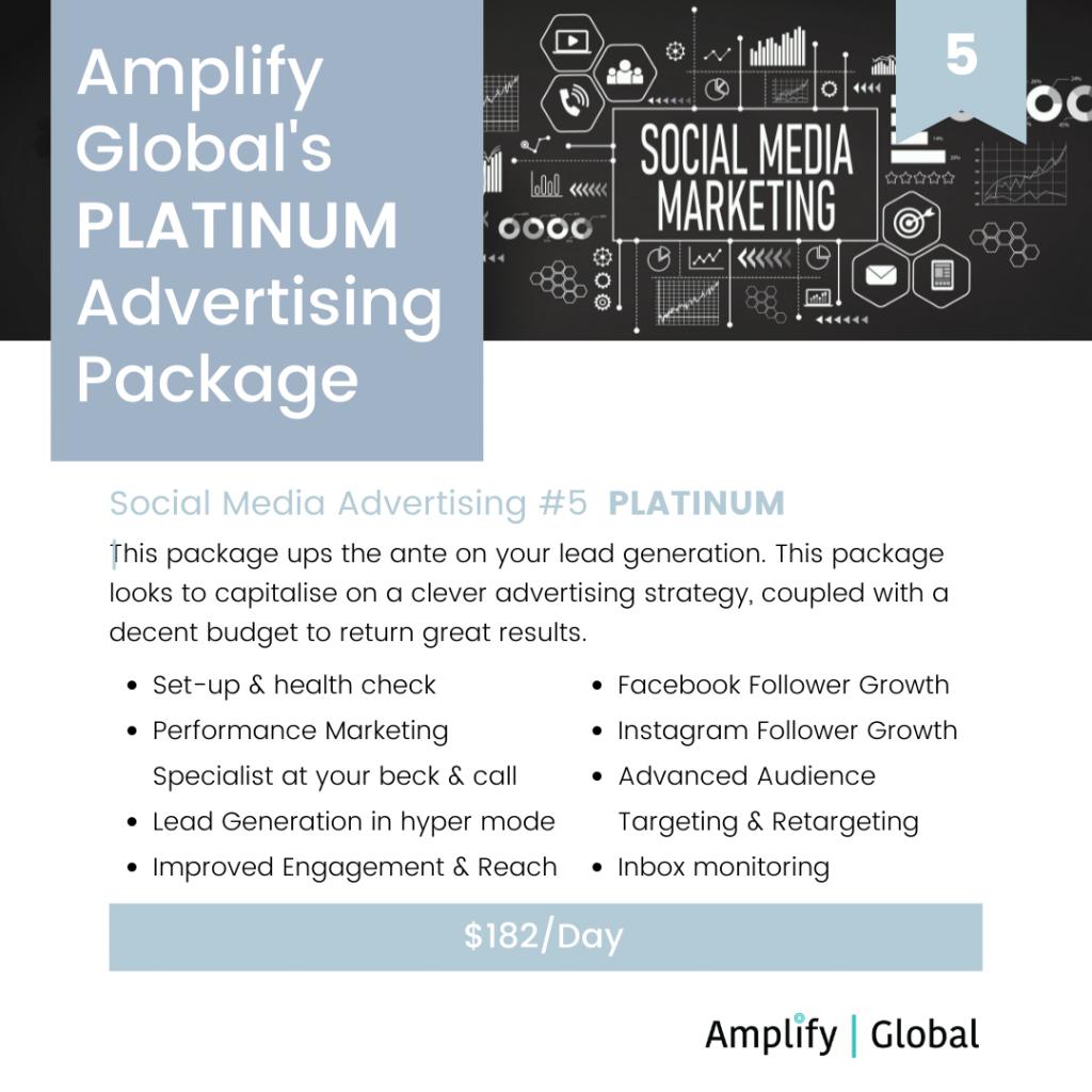 Amplify Global Social Media Advertising Package - Platinum