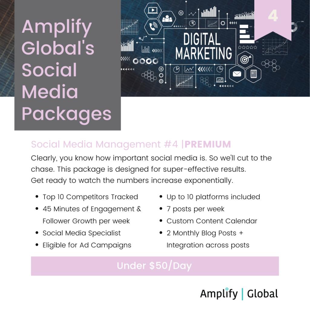 Amplify Global Social Media Content Management Package - Premium