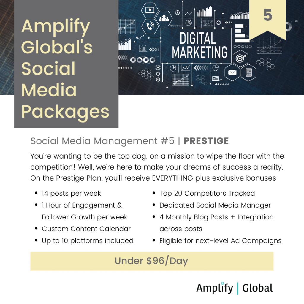 Amplify Global Social Media Content Management Package - Prestige