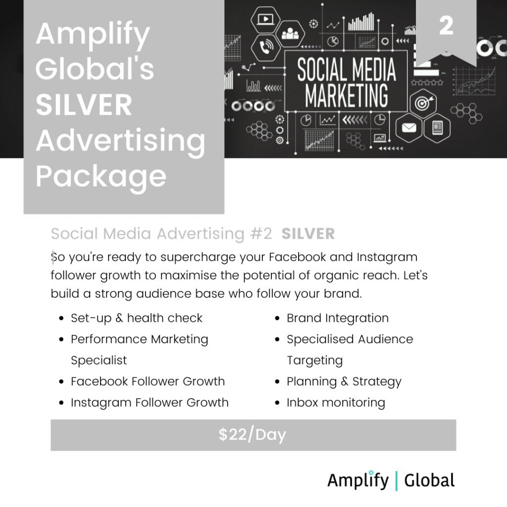 Amplify Global Social Media Advertising Package - Silver